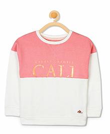 Cherry Crumble California Luxe Shining Sweatshirt - Off White & Pink