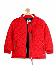 Cherry Crumble California Quirky Quilted Jacket - Red