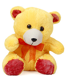 Liviya Teddy Bear With Lace Bow Yellow - 27 Cm