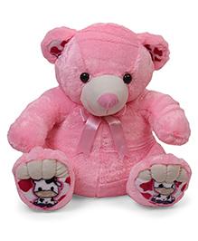Liviya Teddy Bear With Bow Soft Toy  Pink - 54 Cm