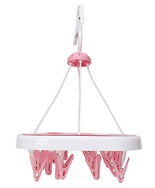 Baby Clothes Hanger - White Pink