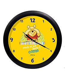 Orka Winnie The Pooh Printed Analog Wall Clock - Yellow