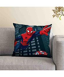 Marvel Spider Man Printed Cushion - Dark Blue Red