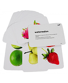 Hungry Brain Fruits, Vegetable & Transports Flash Cards Set Of 3  - Multi Color