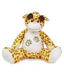 Dimpy Stuff Giraffe Soft Toy White Yellow - Height 46 Cm