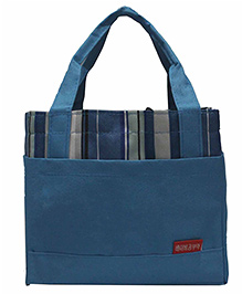 Ez Life Stripes Lunch Bag - Blue