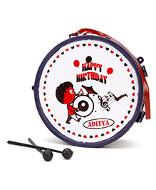 Luvely Dx Musical Drum Toy - Navy & Red