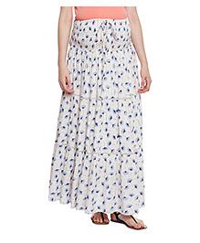 Oxolloxo Long Maternity Printed Skirt - White