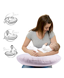 Lulamom Allergen Protected Soft Feeding Pillow - Pink