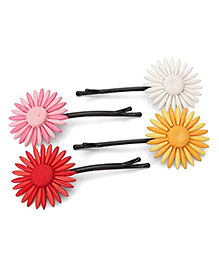 Funkrafts Flower Hair Clips Combo - Multicolor