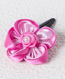 Funkrafts Flower & Pearl Hair Clip - Pink