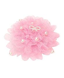 Funkrafts Net & Pearl Hair Clip - Pink