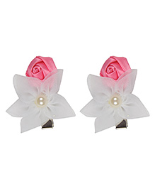 Funkrafts Flower Design Hair Clips - Pink