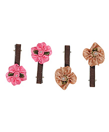 Funkrafts Flower Design Hair Clips Pack Of 2- Multicolor