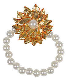Funkrafts Pearl Bracelet Kids Jewellery - Golden