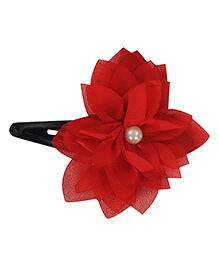 Funkrafts Flower Design Tic Tac Hair Clip - Red