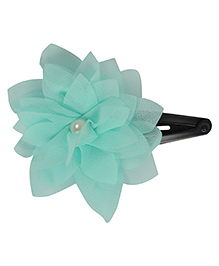 Funkrafts Flower Design Tic Tac Hair Clip - Turquoise Green