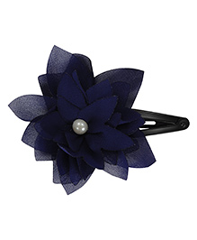 Funkrafts Flower Design Tic Tac Hair Clip - Navy Blue