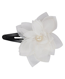 Funkrafts Flower Design Tic Tac Hair Clip - White