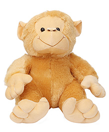 Play Toons Huggable Monkey Soft Toy Brown - Height 41 Cm