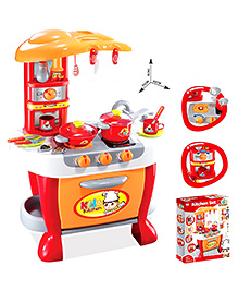 Toys Bhoomi Interactive Kitchen Play Set Orange - 31 Pieces