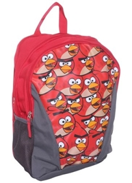 Angry Bird School Bag - Red And Grey