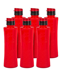 G-Pet Sipper Water Bottles Pack Of 6 Daffodil Red - 1000 Ml
