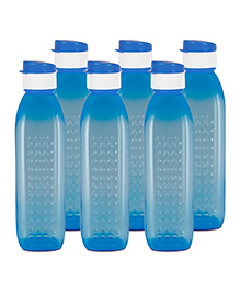 G-Pet Sipper Water Bottles Pack Of 6 Blue - 1000 Ml