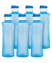 G-Pet Sipper Water Bottles Pack Of 6 Daffodil Blue - 1000 Ml
