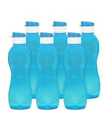 G-Pet Sipper Water Bottles Pack Of 6 Iceberg Blue - 1000 Ml