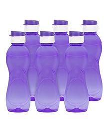 G-Pet Fridge Sipper Water Bottles Pack Of 6 Iceberg Purple - 1000 Ml
