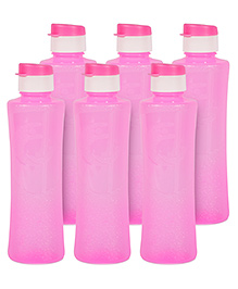 G-Pet Sipper Water Bottles Pack Of 6 Daffodil Pink - 1000 Ml
