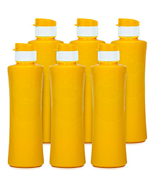 G-Pet Sipper Water Bottles Pack Of 6 Daffodil Yellow - 1000 Ml