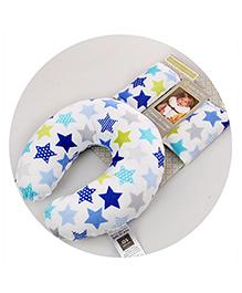 Abracadabra Neck Pillow & Cushy Straps Pack Of 3 Star Print - Blue Multicolor