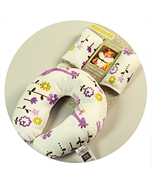 Abracadabra Neck Pillow & Cushy Straps Pack Of 3 Giraffe Print - White Purple