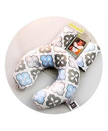 Abracadabra Neck Pillow & Cushy Straps Pack Of 3 Floral Print - Blue Grey
