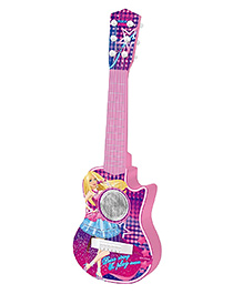 Emob Battery Operated Music Guitar Pink - Height 55 Cm