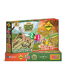 Kaadoo Crocs & Giraffes & The Hunt 2 In 1 Board Game - Multi Colour