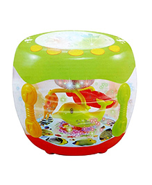 Webby Kids Drum Set With Music - Green Red