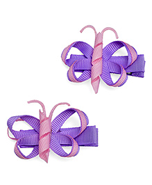 NeedyBee Butterfly Clip Purple - Pack Of 2
