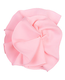 NeedyBee Snap Clip Ribbon Flower Design - Pink