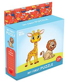 Braino Kidz My First Mini Jigsaw Puzzle Wild Animals Multicolor - 25 Pieces