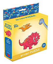 Braino Kidz My First Mini Jigsaw Puzzle Dino Land Multicolor - 25 Pieces