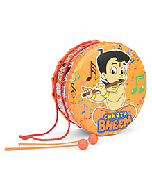 Chhota Bheem Toy Drum Set Character Print Medium - Orange
