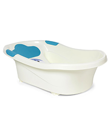 Elephant Print Baby Bath Tub - Blue White