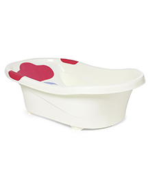 Elephant Print Baby Bath Tub - Pink White