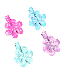 Babyhug Flower Shape Hair Clip Pack Of 4 - Multicolor
