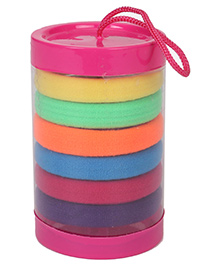 Babyhug Hair Rubber Band Set Pack Of 7 - Multi Colour