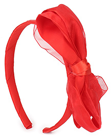Babyhug Hair Band With Bow Motif - Red