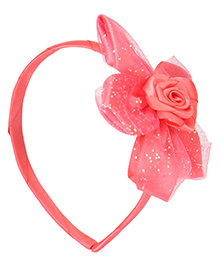 Babyhug Hair Band With Flower Motif - Peach - 1753891